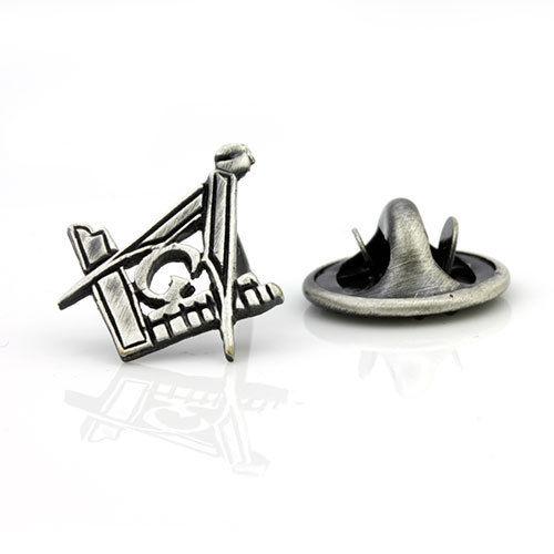 Antique Effect Masonic Lapel Pin