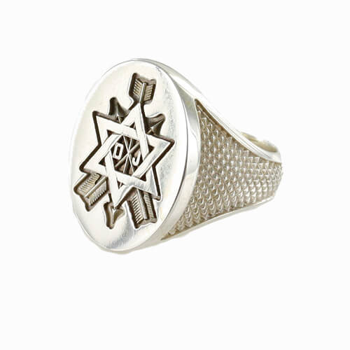 Order of the Secret Monitor Solid Silver Masonic Ring 1