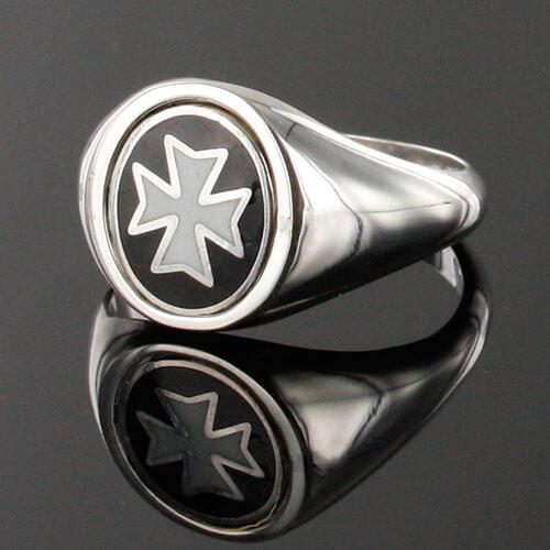 Reversible Solid Silver Knights of Malta Masonic Ring