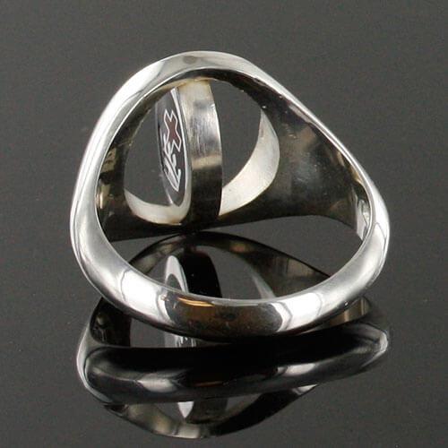 Reversible Solid Silver Royal Black Preceptory Masonic Ring
