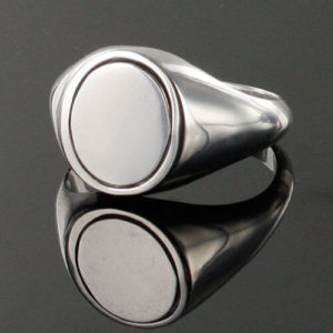 Reversible Solid Silver Royal Arch Masonic Ring (Black)