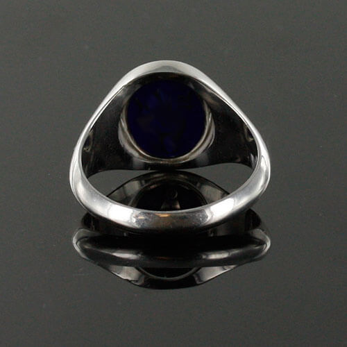 Reversible Solid Silver Royal Arch Masonic Ring (Red) 5