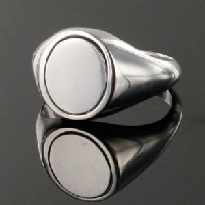 Reversible Solid Silver SAS Ring