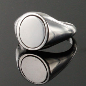 Reversible Solid Silver Triple Tau Masonic Ring
