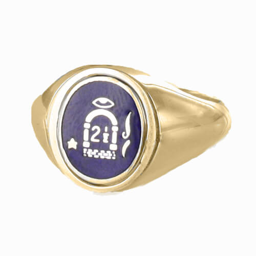 Reversible Solid Silver Gold Plated 2 1/2 Degree Ring