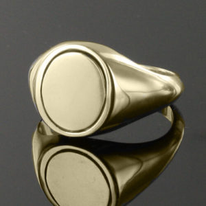 Reversible Gold Plated Solid Silver Royal Arch Masonic Ring (Black)