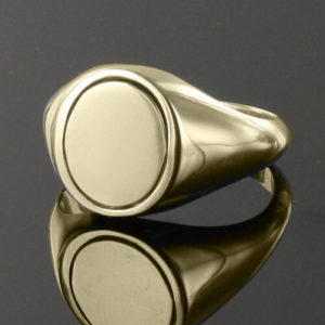 Reversible Solid Silver Gold Plated SAS Ring