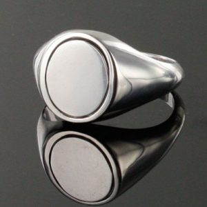 Blue Reversible Solid Silver Square and Compass with G Masonic Ring