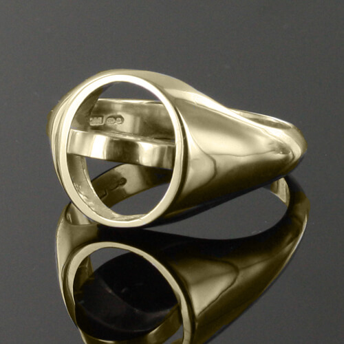 Black Reversible Gold Plated Solid Silver Square and Compass with G Masonic Ring