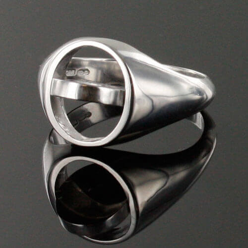 Black Reversible Solid Silver Square and Compass Masonic Ring