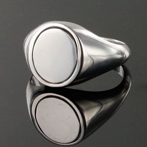 Red Reversible Solid Silver Square and Compass Masonic Ring