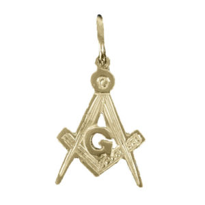 Hallmarked 9ct Gold Masonic Square And Compass Pendant