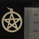 Large Circle Sacred Pentagram Pendant in Gold (25mm⌀) 2
