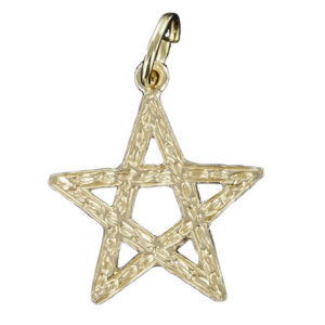 Large Pentagram Pendant in Gold
