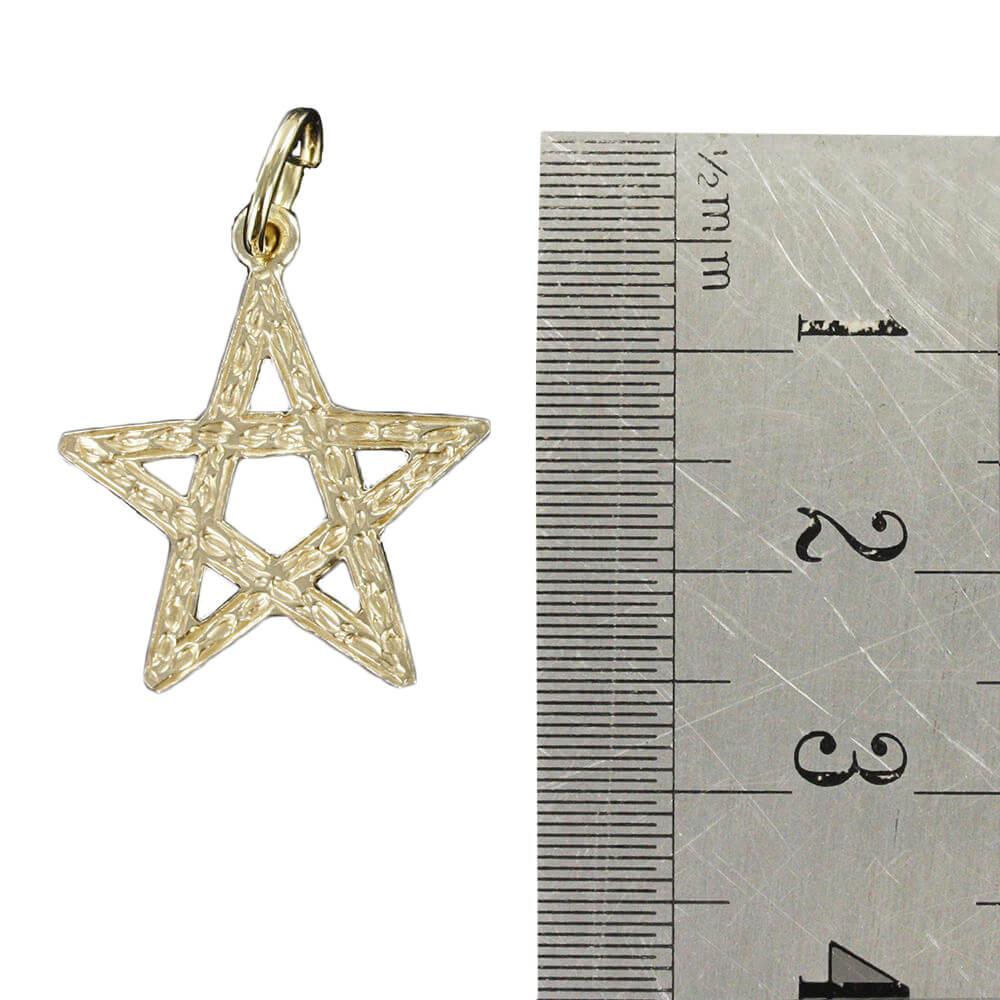 Large Pentagram Pendant in Gold