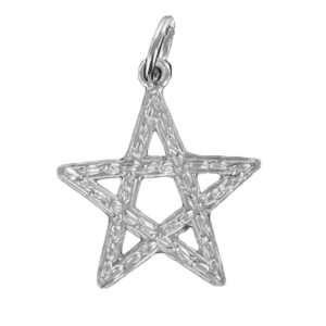 Large Pentagram Pendant in Silver