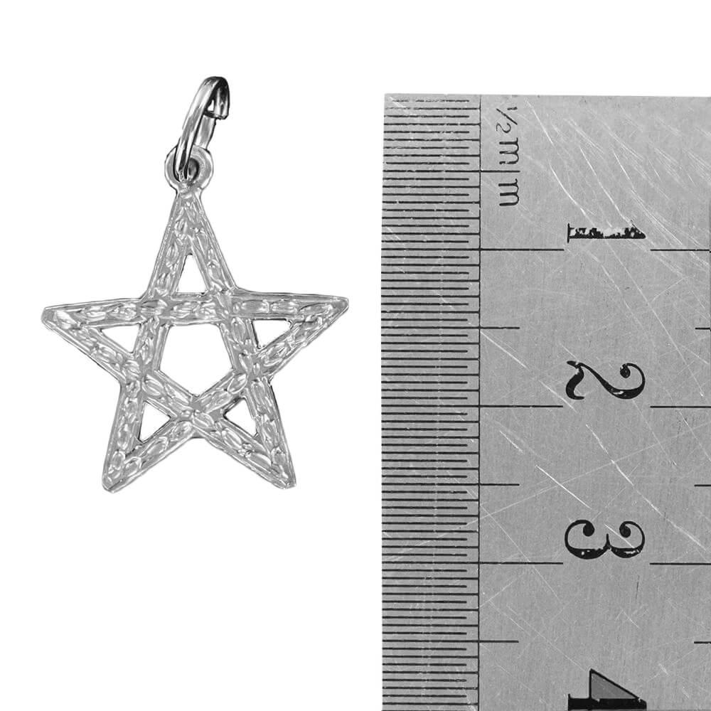 Large Pentagram Pendant in Silver