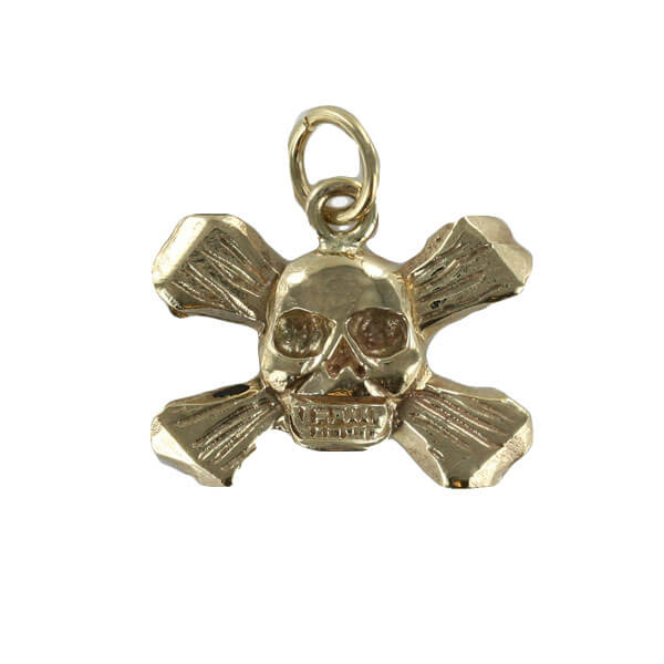 Skull and crossbones pendant in 9ct gold masonic jewellery skull and crossbones pendant in 9ct gold 1343ga aloadofball Gallery