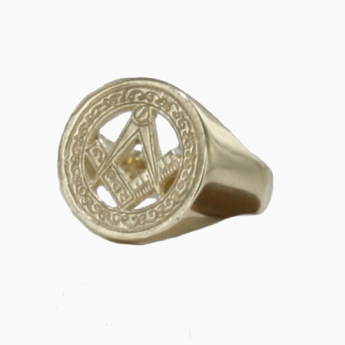 9ct Yellow Gold Masonic Signet Ring – Square & Compass