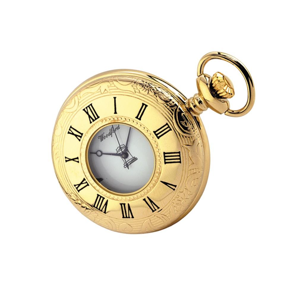 Gold Plated Quartz Masonic Pocket Watch