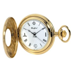 Gold Plated Quartz Masonic Pocket Watch