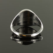Solid Silver Onyx Masonic Ring Square and Compass 5