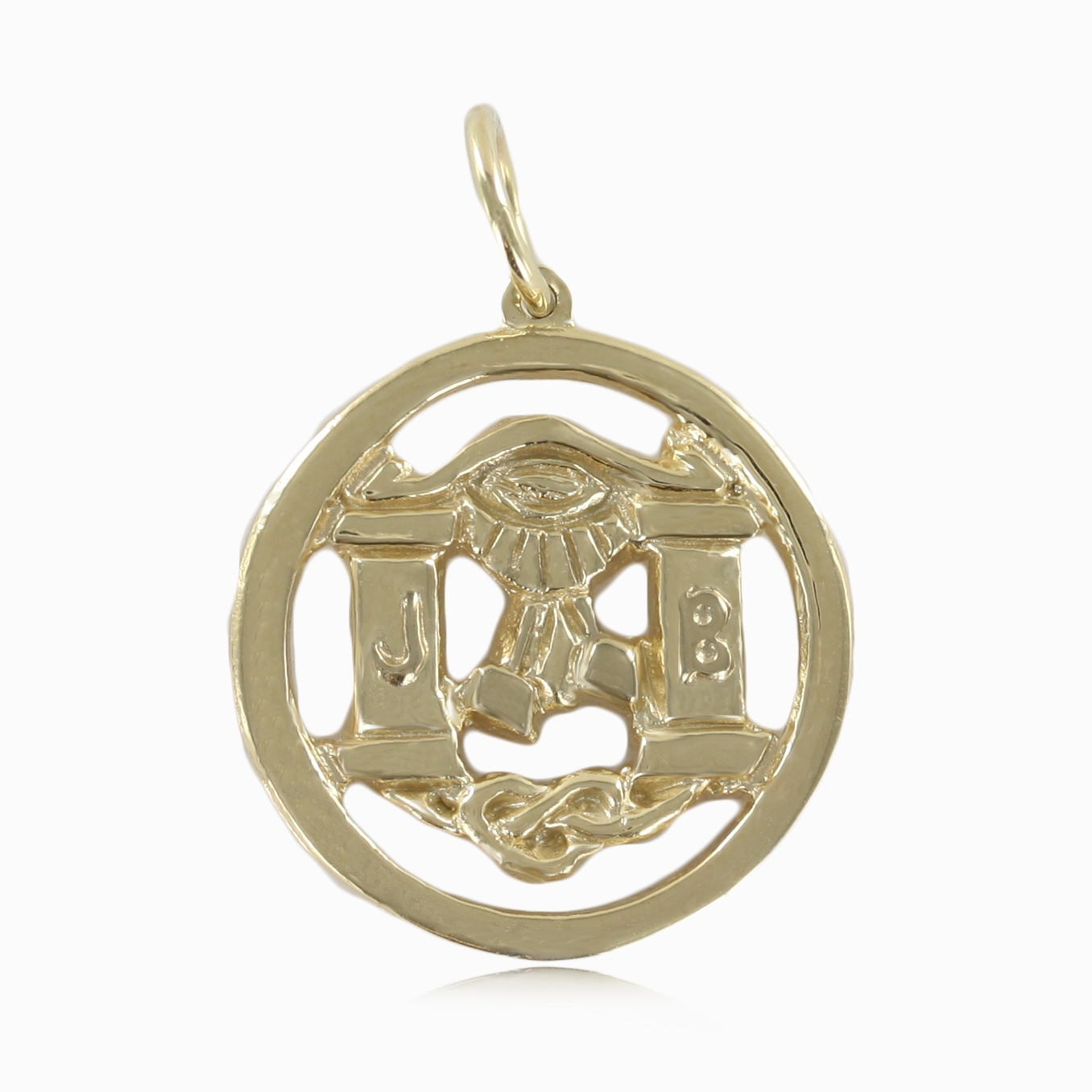 Solid 9ct Yellow Gold Masonic Pendant