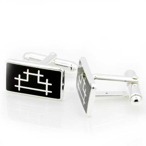 Base Metal Rectangular Operatives Masonic Cufflinks