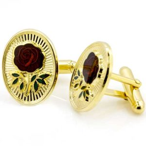 Gilt Rose Croix Masonic Cufflinks