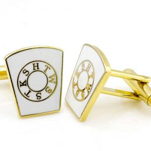 Gilt Metal HTWSSTKS Masonic Cufflinks with Gilt Keyline (Mark Master)
