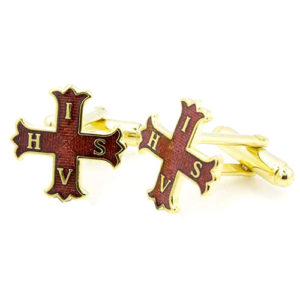 Gilt Red Cross of Constantine Masonic Cufflinks