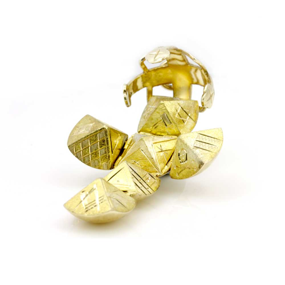 9ct Yellow Gold Masonic Handmade Orb Fob Ball Cross Pendant 6