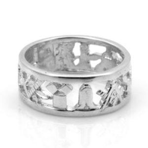 Solid Silver 925 Masonic Wedding Ring