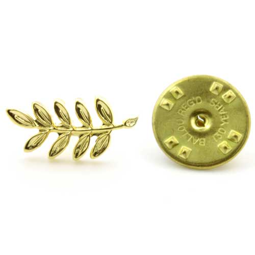 Gilt Metal Acacia Leaf Masonic Lapel Pin (or Badge)