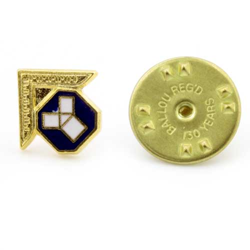 Gilt Metal Past Master's Masonic Lapel Pin