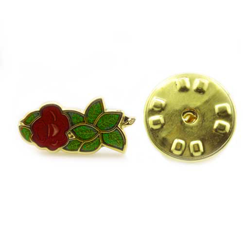 Gilt Metal and Enamel Rose Croix Masonic Lapel Pin