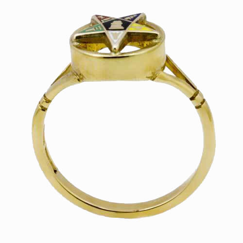 9ct Yellow Gold Order of the Eastern Star Masonic Ring 3