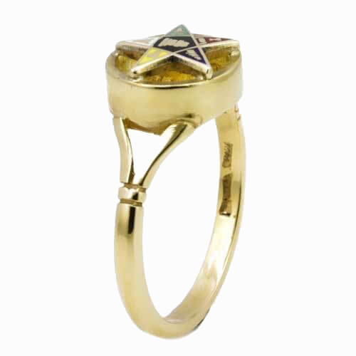 9ct Yellow Gold Order of the Eastern Star Masonic Ring 2
