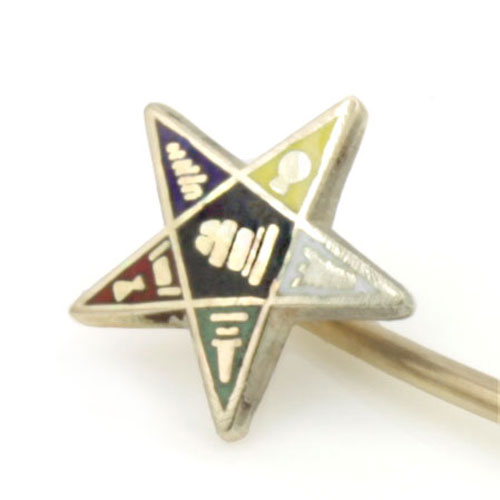 9ct Yellow Gold Masonic Order of the Eastern Star Stick Pin