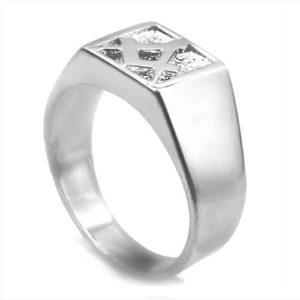 Solid Silver Masonic Free Mason Signet Ring