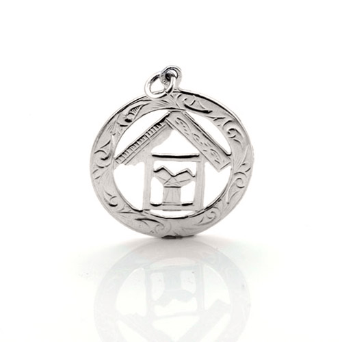 Sterling Silver 925 Masonic Pendant with TAU Symbol