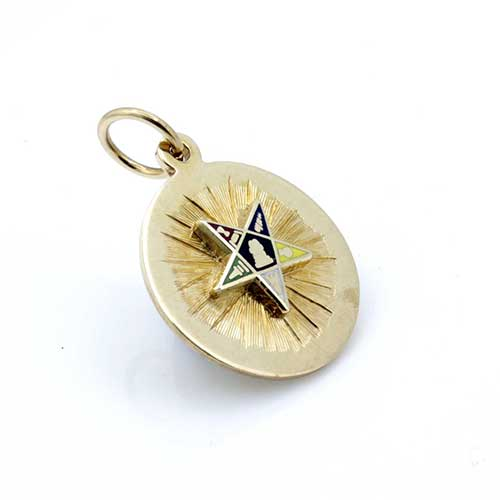 9ct Yellow Gold Order of the Eastern Star Pendant