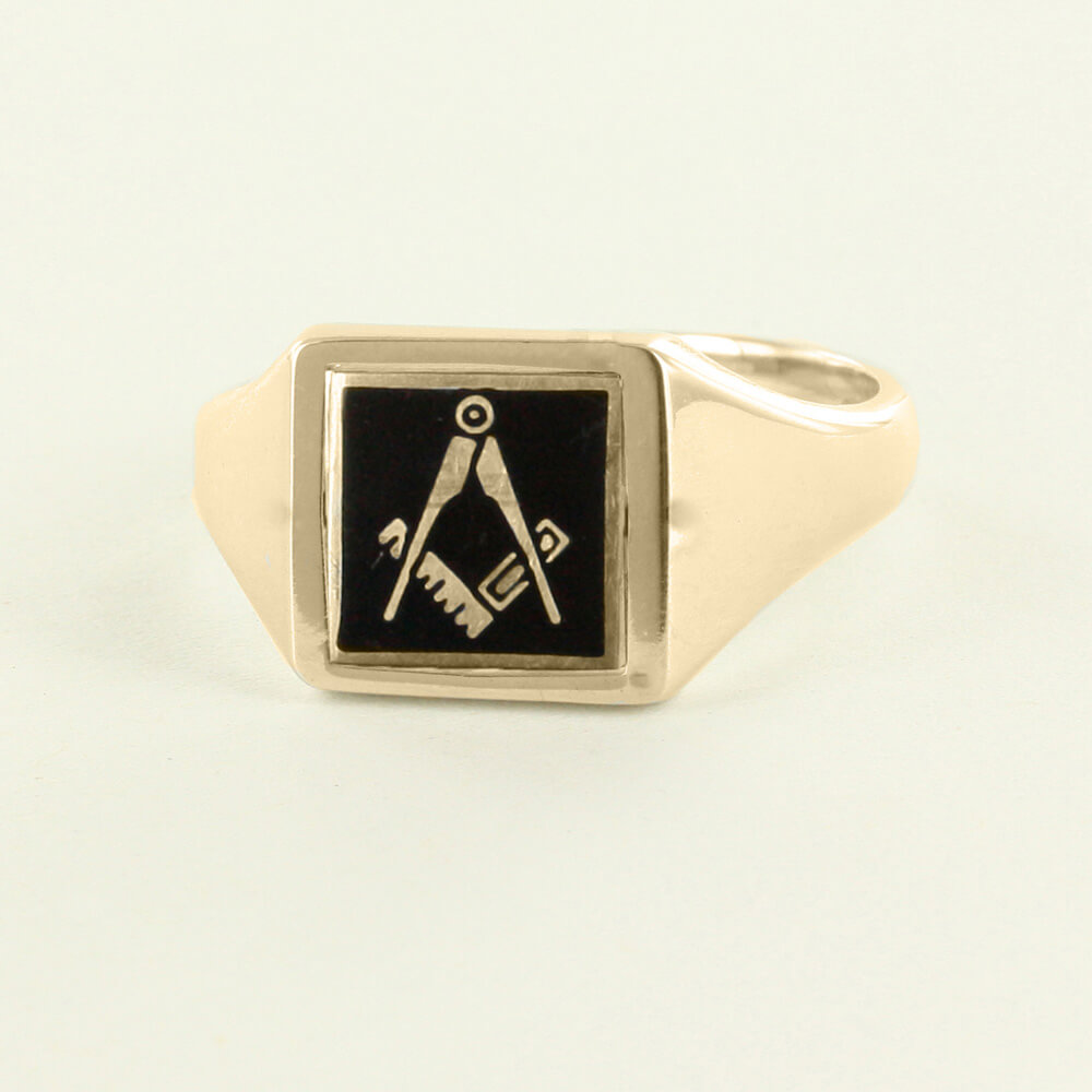 Black Reversible Square Head Gold Plated Square And